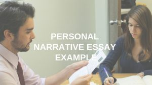 Personal Narrative Essay Example
