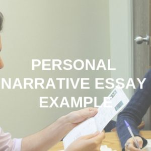 Personal Narrative Essay Example