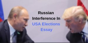 Russian Interference In USA Elections Essay