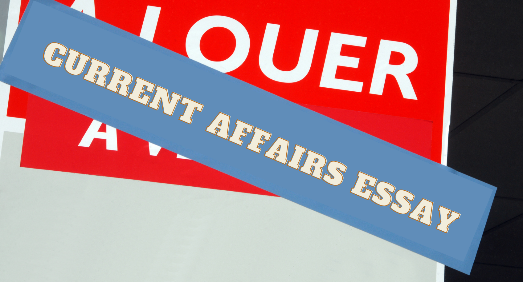 Which topics can be included in the current affairs essay?